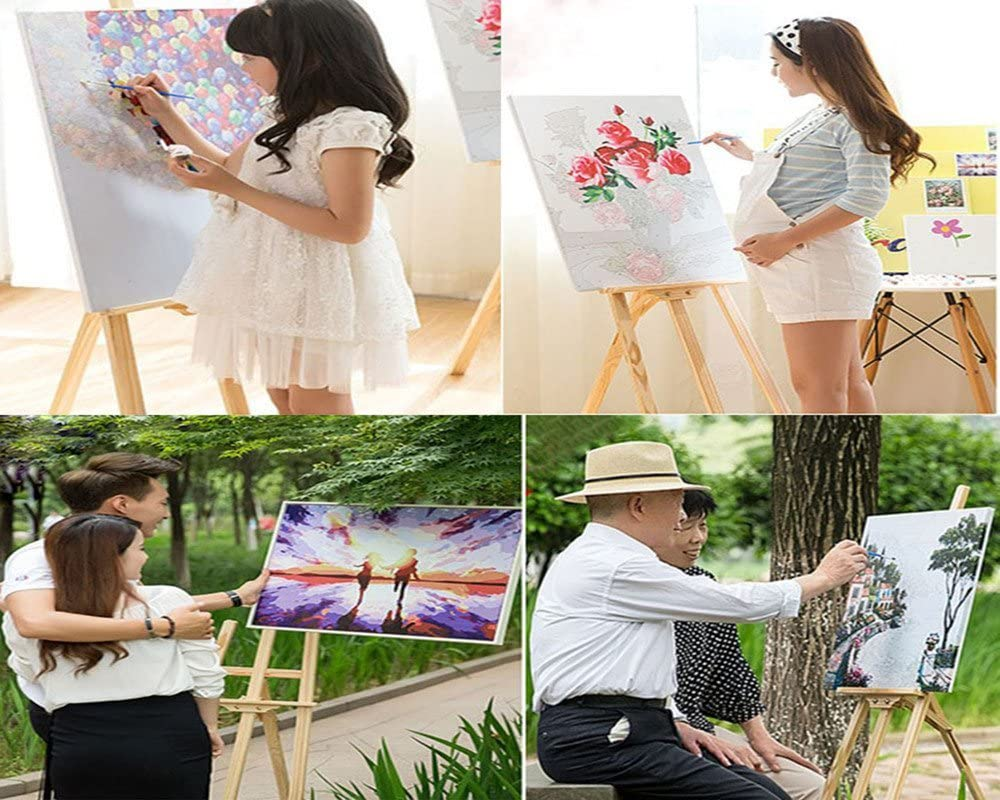 Without Frame Beauty and Wolf DIY Oil Painting Paint by Number Kit for Kids Adults Beginner 16x20 inch Drawing with Brushes Christmas Decor Decorations Gifts