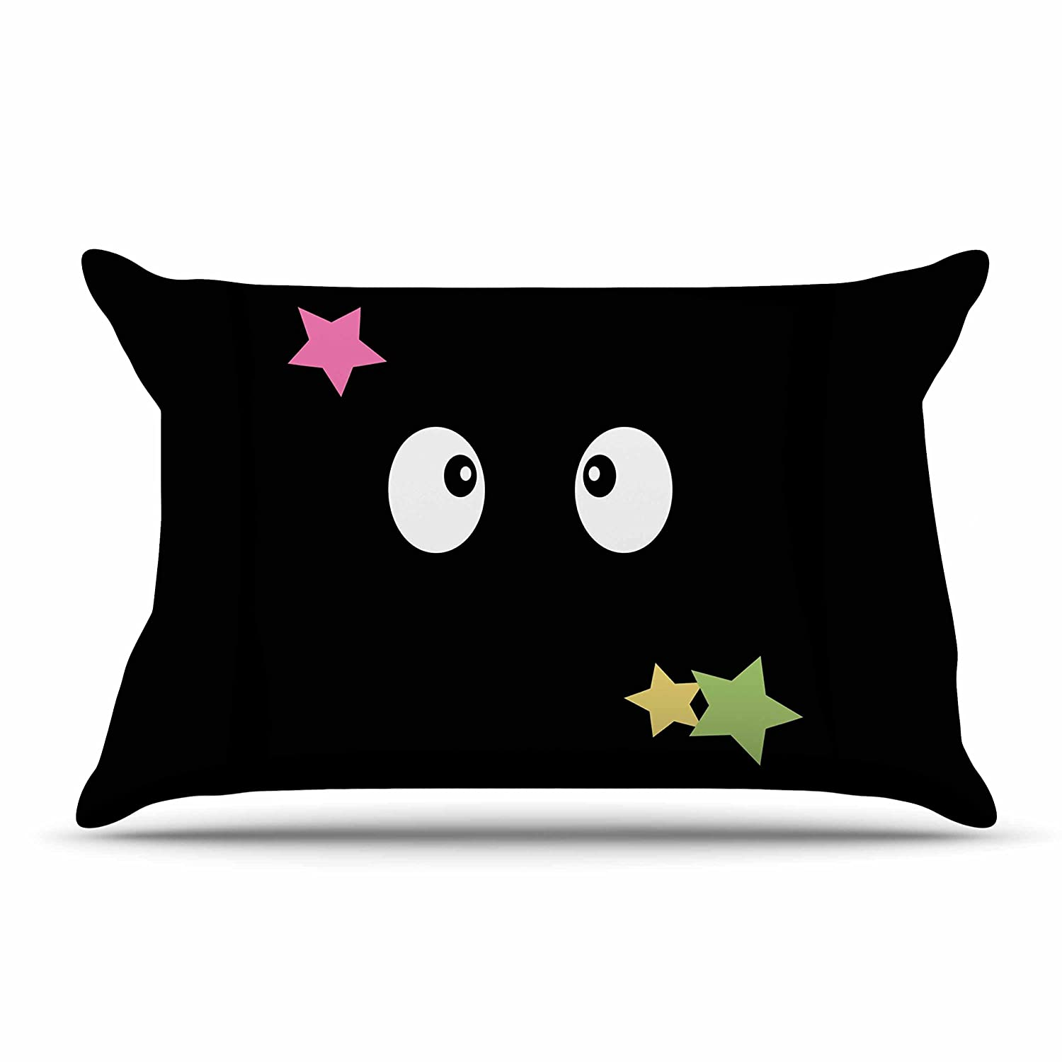 30 by 20-Inch Kess InHouse Jackie Rose Soot Gremlins Black Multicolor Standard Pillow Case 30 X 20