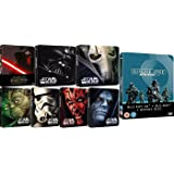 Star Wars 2017 Complete Collection + Rogue One: A Star Wars Story UK Limited Edition Steelbooks Blu-ray