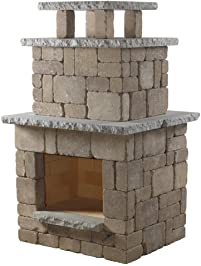 Necessories Compact Outdoor Fireplace In Bluestone