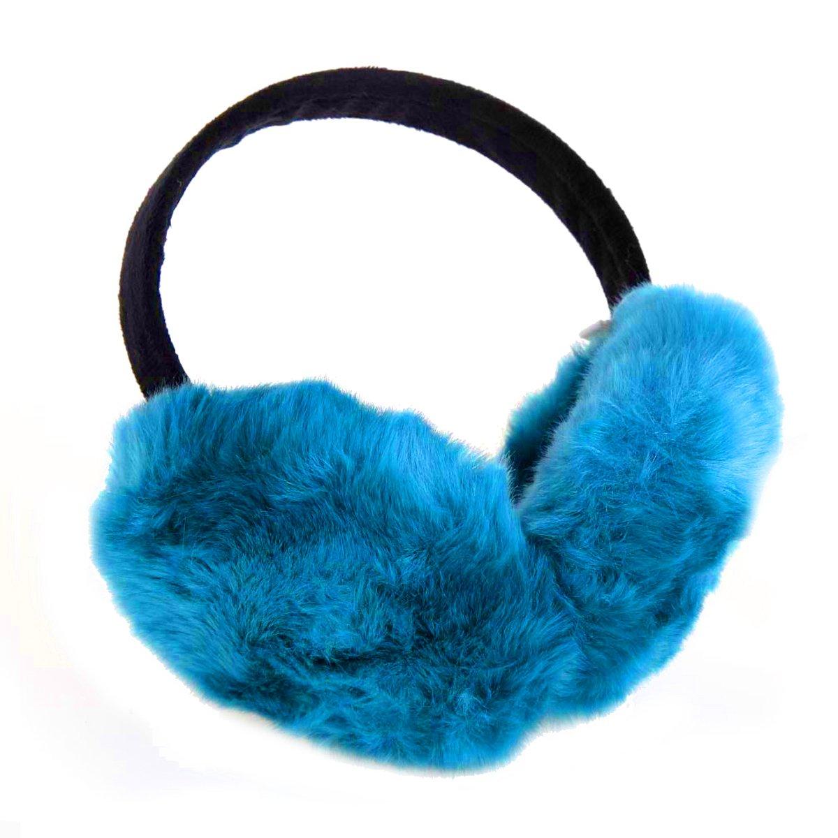 ChikaMika Winter Earmuffs for Women Girls Winter Ear muffs Large Over Ear Foldable EarMuff (Blue)