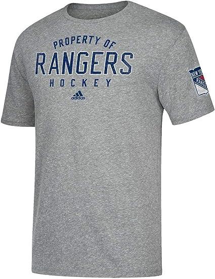 adidas New York Rangers Adulte NHL Vintage Propriété T Shirt pour Femme – Gris,