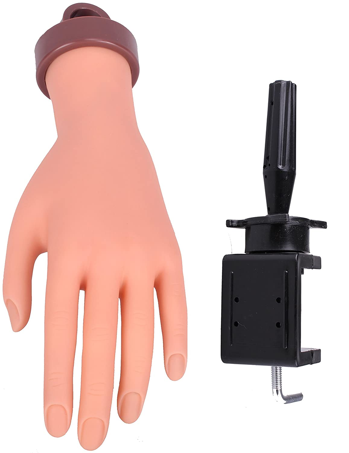 Lian's Flexible Soft Rubber Mannequin Model Hand Nail Art Practice/Trainning/Display with Free Clamp LSHB