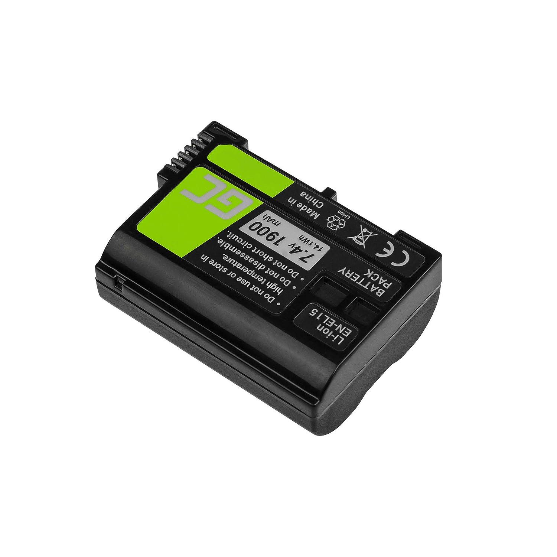 Green Cell® EN-EL15 EN-EL15A Batería para Nikon 1 V1 D500 D600 ...