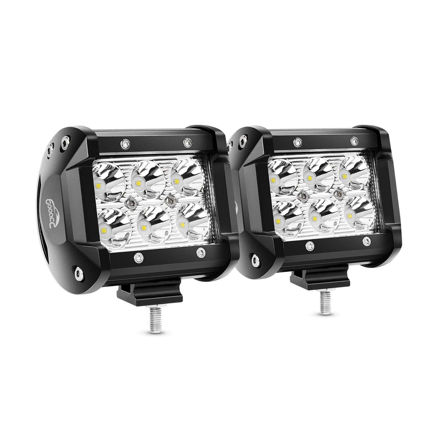 -Black LED Driver side WITH install kit 2007 Mack PINNACLE MID-RISE SLEEPER Side Roof mount spotlight 6 inch