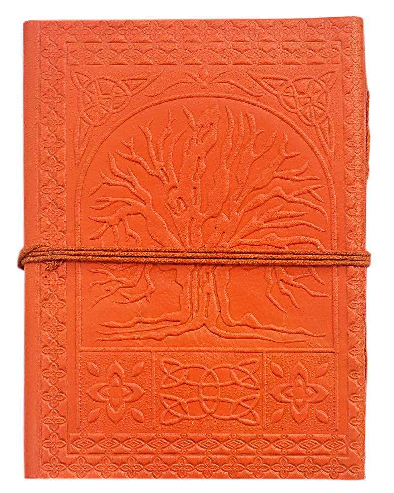 Etroves 7x5 Inch Leather Journal with Stone Unlined Plain Paper Writing Notebook for Sketch-Doodling Travel Personal To Do Planner for Men Women