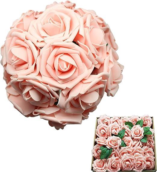 Rosas Rojas artificial de tallo largo Decoración para fiestas ramo De Novia de Boda Flores falso