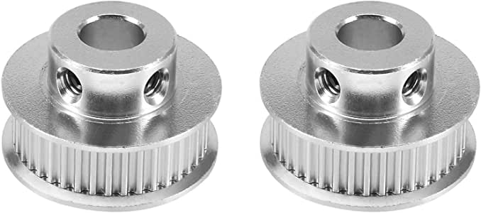 40T-8mm LICTOP 2pcs Aluminum GT2 40 Teeth 8mm//0.31 Bore Timing Belt Pulley Flange Synchronous Wheel for 3D Printer Accessories,Milling Machine