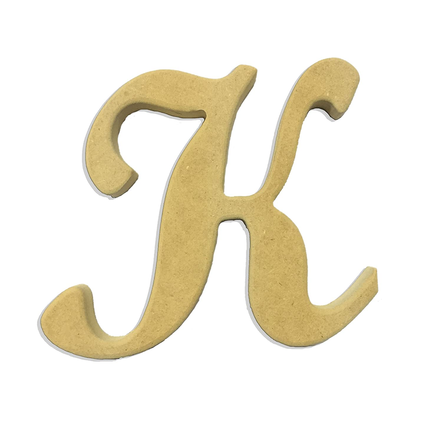 6 Capital Letter K Script Cursive Unfinished Wood Diy Craft Cutout To Sell Ready To Paint Wooden Stacked