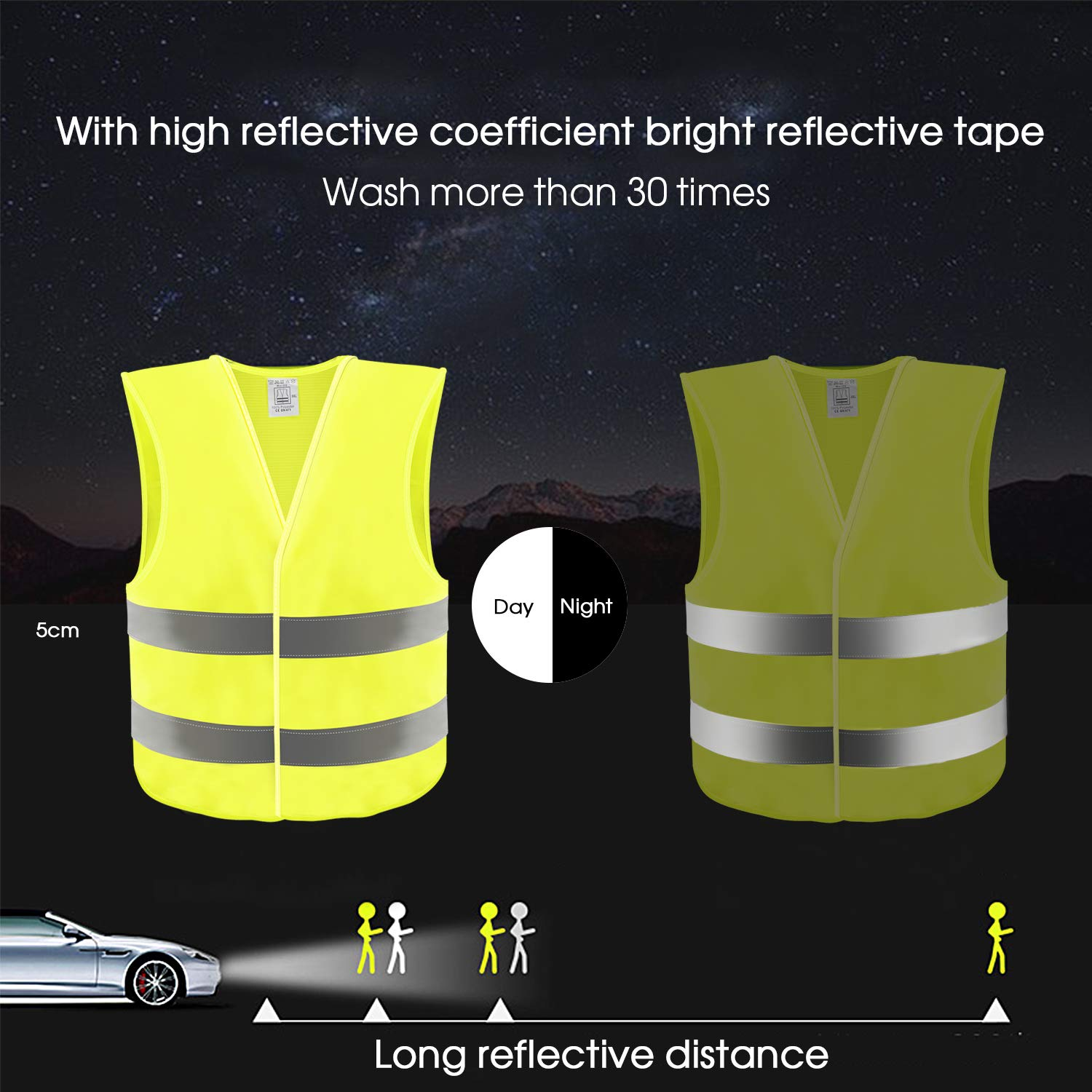 Search For Flights Outdoor Reflective Vests Running Safety Vest Traffic Sanitation For Man Women Jogging Running Walking Biking Cycling Sports Non-Ironing Back To Search Resultssports & Entertainment