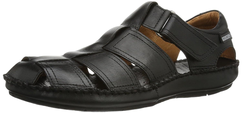 Pikolinos TARIFA 06J-1 06J-5433_V13 - Sandalias de cuero para hombre 45 EU|Negro (Black)
