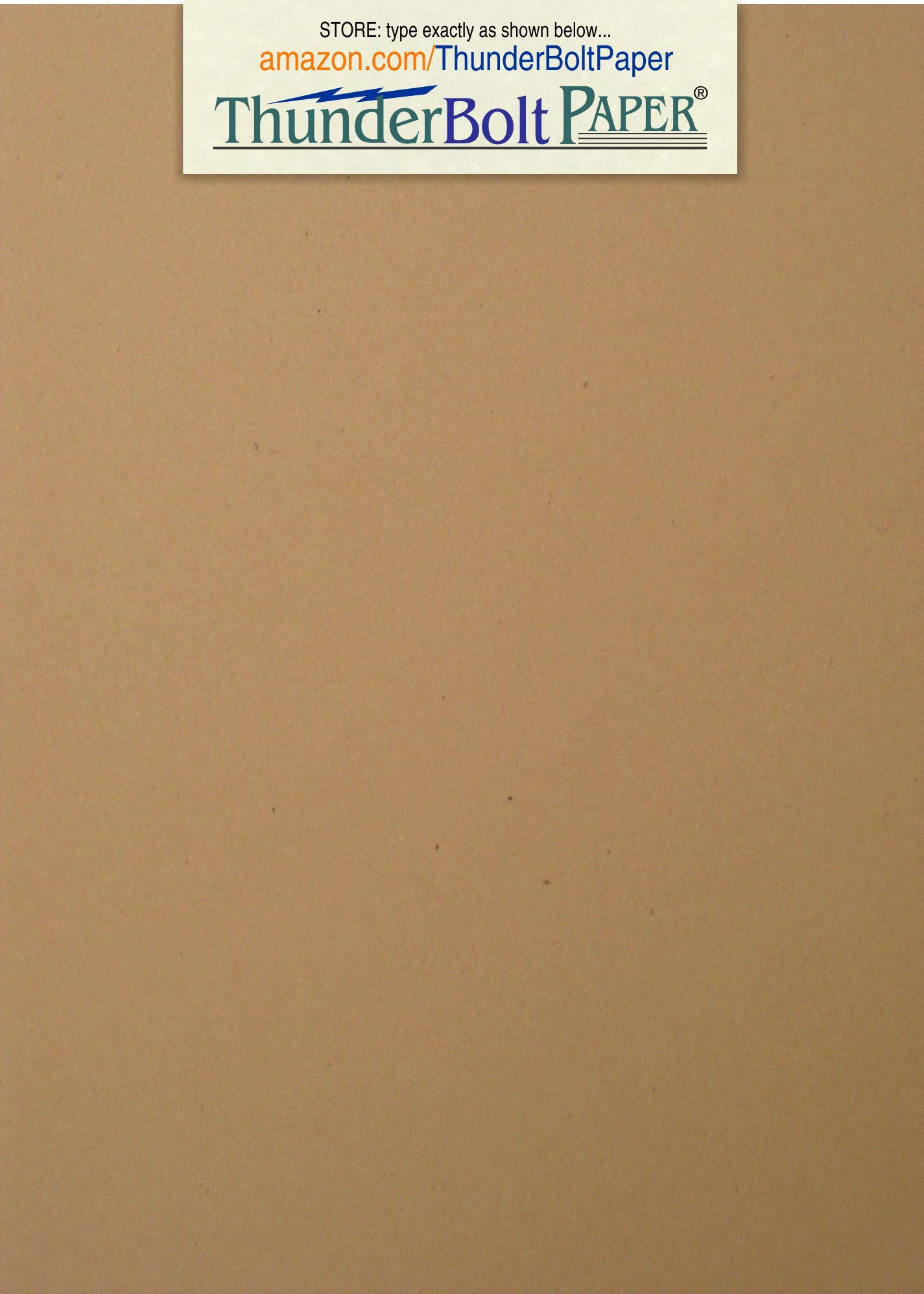 350 Brown Kraft Fiber 80# Cover Paper Sheets - 5'' X 7'' (5X7 Inches) Photo|Card|Frame Size - Rich Earthy Color with Natural Fibers - 80lb/Pound Cardstock - Smooth Finish