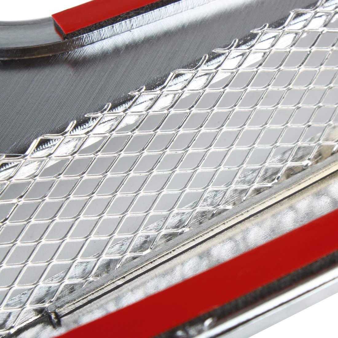 Argent 2 Larcele Ventilation dair D/écoratif de Voiture Ext/érieur de Entr/ées dair Prise dair Autocollants JFK-02
