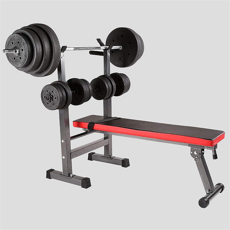 TureFans Panca Pesi inclinazione Pieghevole e Regolabile con rastrelliera per bilanciere carico Massimo 200 kg