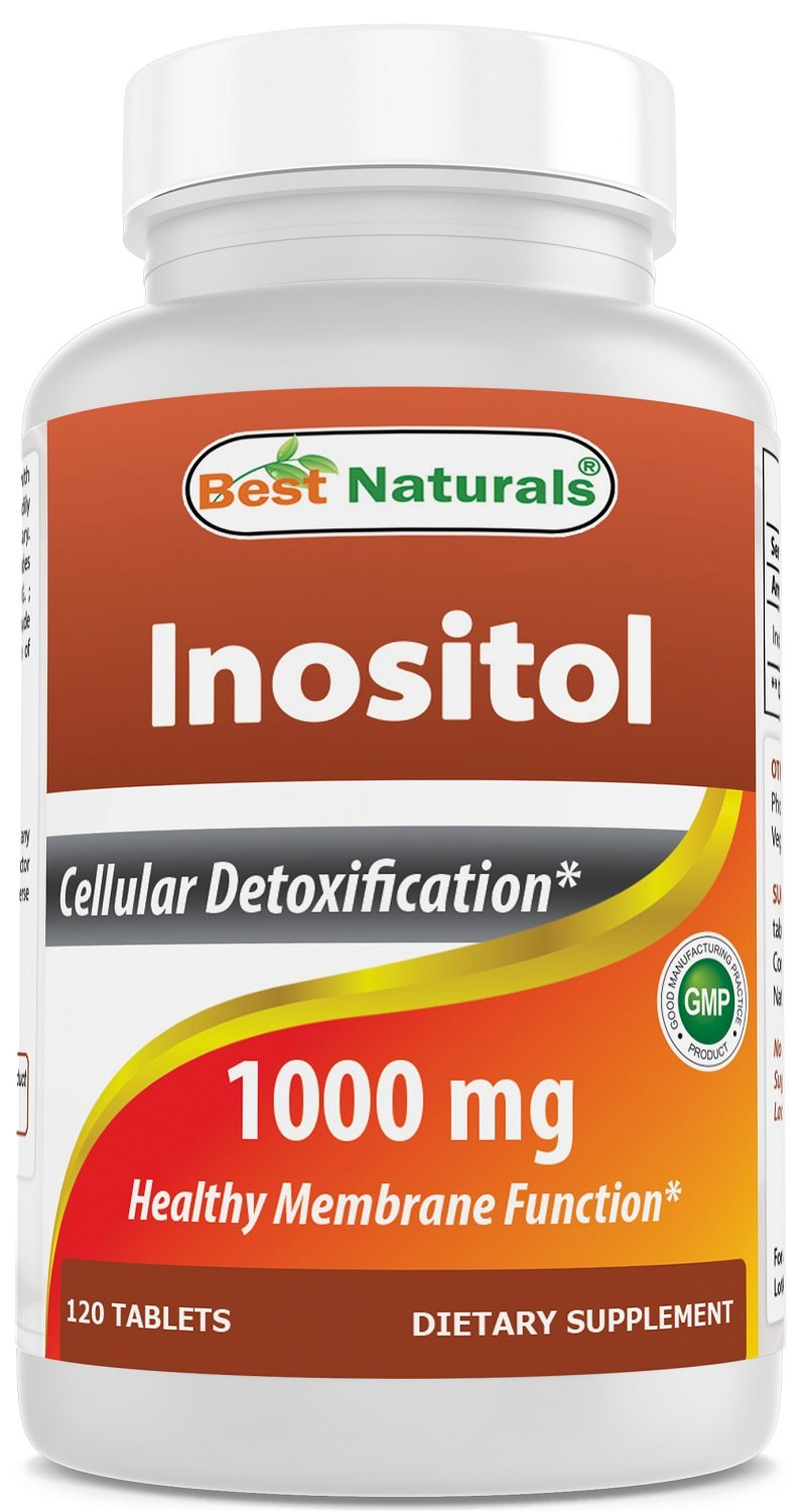 Best Naturals Inositol 1000mg 120 Tablets - Also Called Vitamin B8