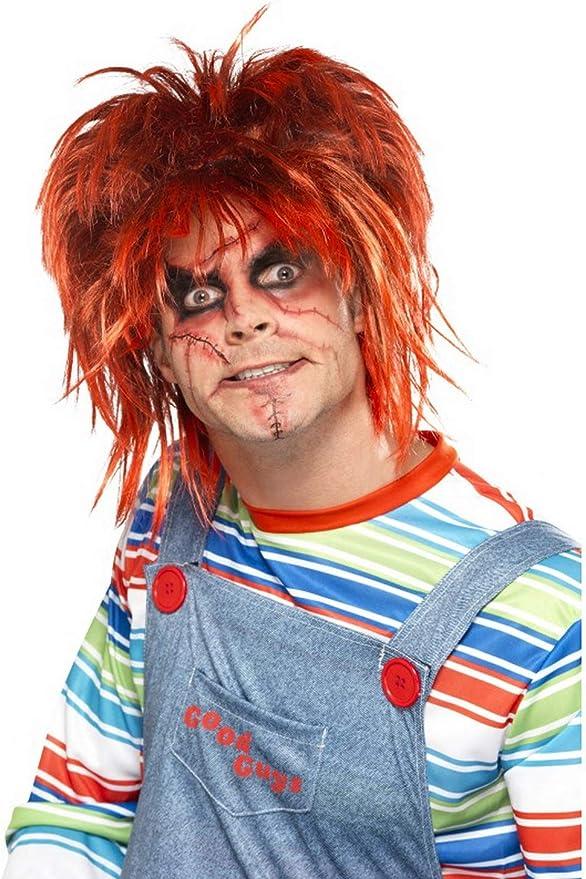 Halloween enia – Accesorios de Disfraz Chucky Make Up Maquillaje Set con Pincel y Pegatinas, Carnaval, y Fastnacht: Amazon.es: Juguetes y juegos