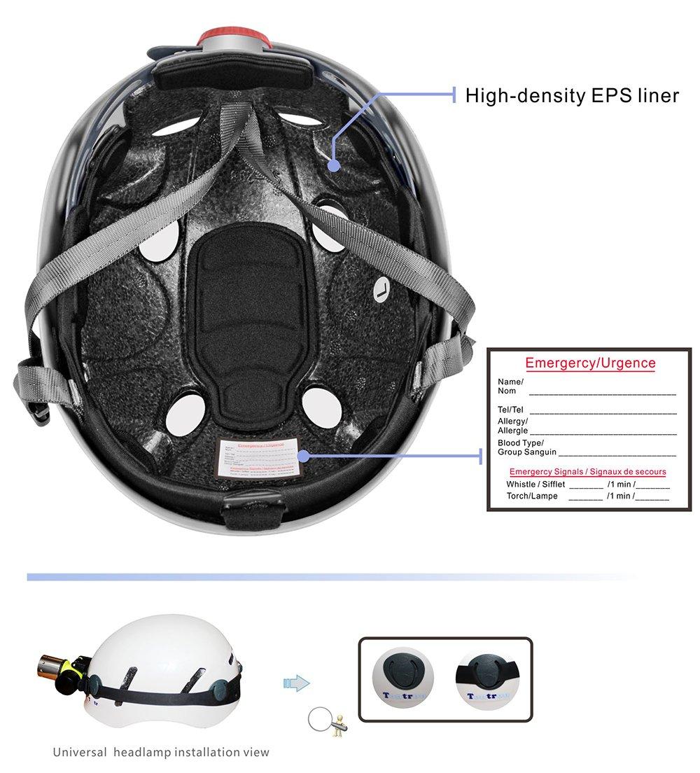 Tontron Comfy Climbing Caving Helmet White, Large