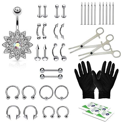 Amazon Com Bodyj4you 36pcs Professional Piercing Kit Steel 14g 16g