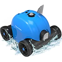 PAXCESS Cordless Automatic Pool Cleaner, Robotic Pool Cleaner with 5000mAh Rechargeable Battery, 90 Mins Working Time, IPX8 Waterproof, Lightweight, Good for Cleaning In-Ground/Above Ground Pool