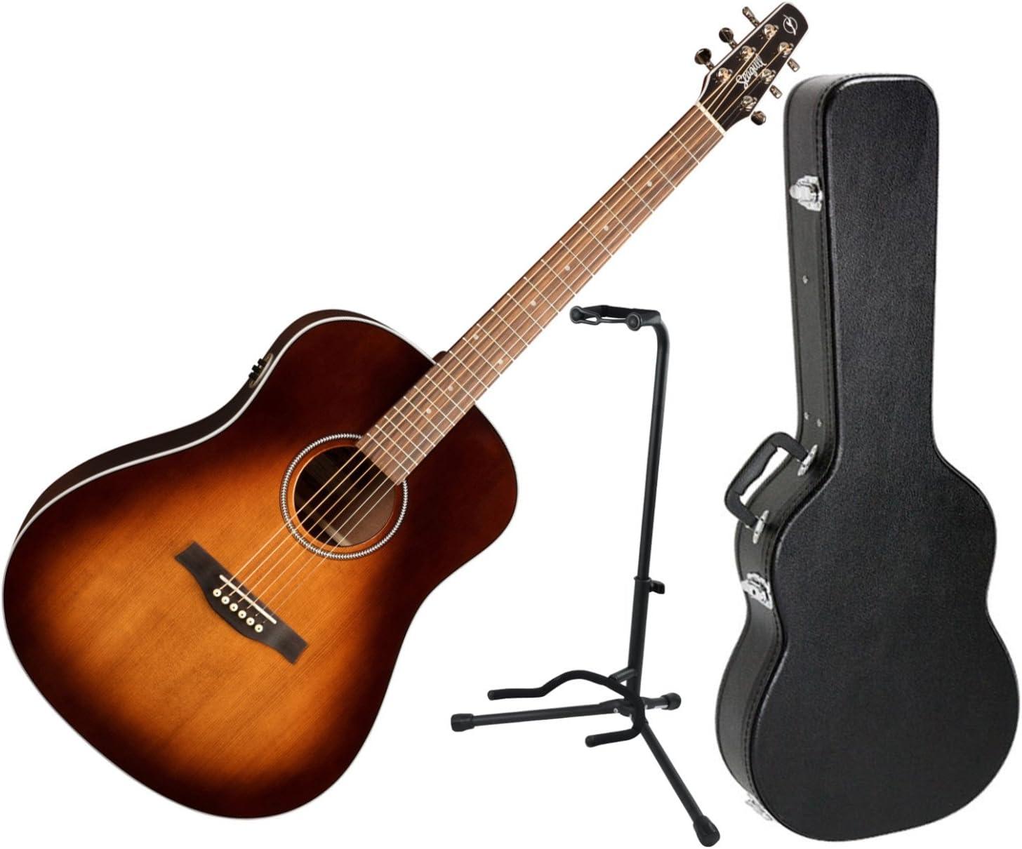 Seagull 041817 Maritime SWS - Guitarra eléctrica acústica (madera de caoba, con estuche rígido y soporte): Amazon.es: Instrumentos musicales