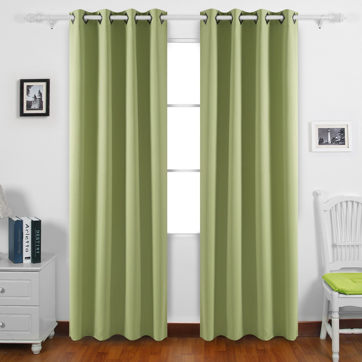 Deconovo Room Darkening Panels Thermal Blackout Curtains Grommet Insulated Curtains for Store