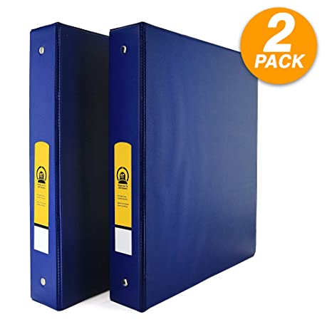 Amazon.com: Emraw Super carpeta de 3 anillas de 1.0 in con 2 ...
