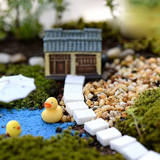 B Blesiya 10x Resina Miniatura Decoración Pavimento De Piedra Blanca Micro Paisaje Jardín De Bonsáis: Amazon.es: Jardín