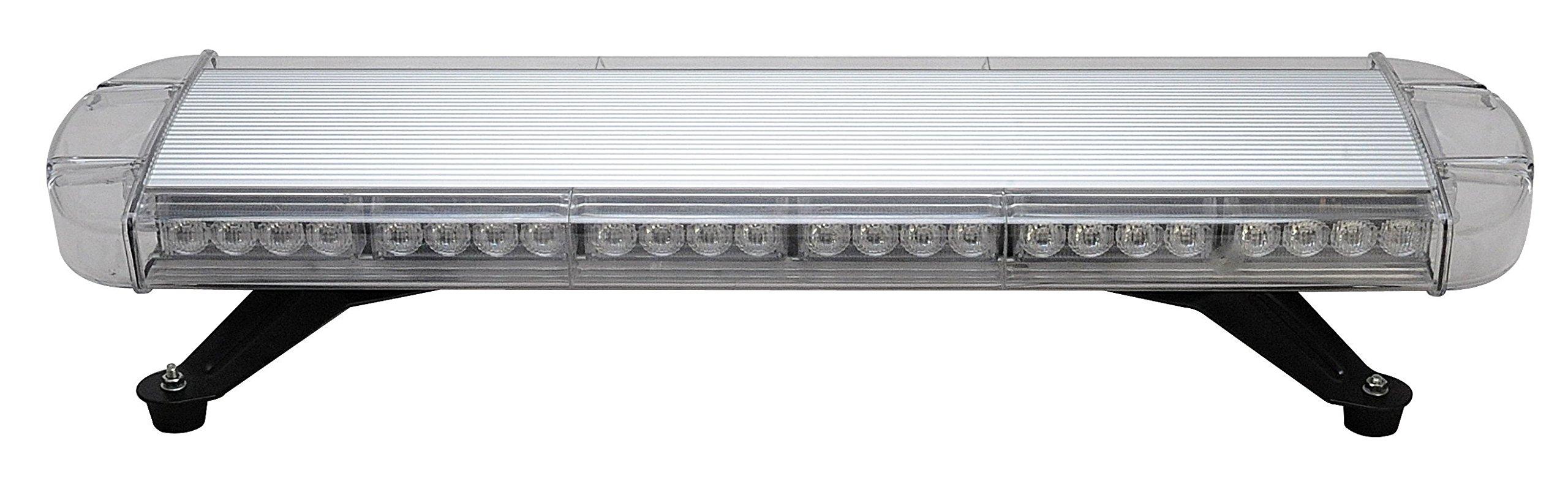 BiaoChi Car Auto High Power LED CREE 6 Flash Modes 12V 56W Truck Boat Law Enforcement Hazard Security Emergency Warning Flashlight Roof Top Strobe Light Lamp Bar (Blue) by BiaoChi® (Image #1)