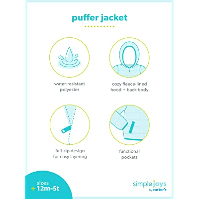 Simple Joys by Carters Boys Toddler Puffer Jacket