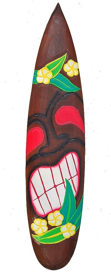 Tiki Cartel de madera en tabla de surf Style Cartel Surf Lounge Style Tiki Hawaii