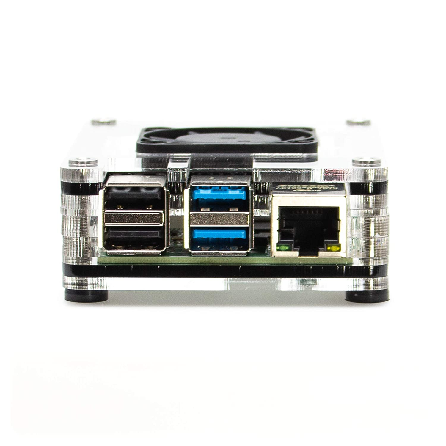 C4Labs - Zebra 4 Interior Fan Case for Raspberry Pi 4 B