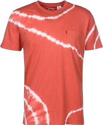 96ac5822e511 Levi s Mens Sunset Pocket T-Shirt in Red White- Short Sleeve ...