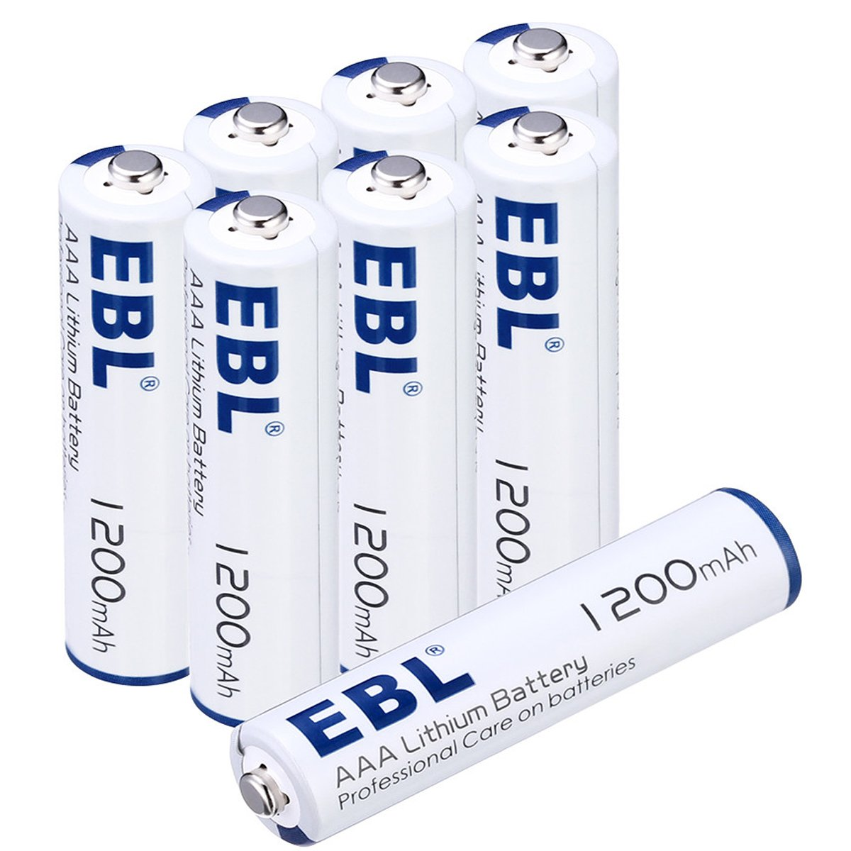 EBL AA Batteries 1.5V Lithium 8 Pack AA Battery 3000mAh Ultra fit Mouse, Toys, Digital Cameras Non Rechargeable EBL-AA