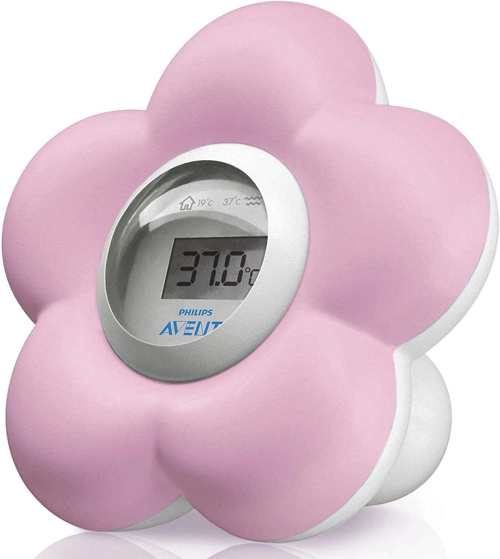 Philips AVENT forma de flor Term/ómetro para ba/ño y dormitorio de beb/é color rosa