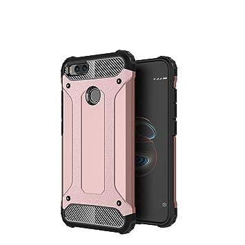 AOBOK Funda Xiaomi Mi A1, Doble Capa Híbrida Armor Funda Shock-Absorción Armadura Proteccion Carcasa para Xiaomi Mi A1 Case (Oro Rosa)