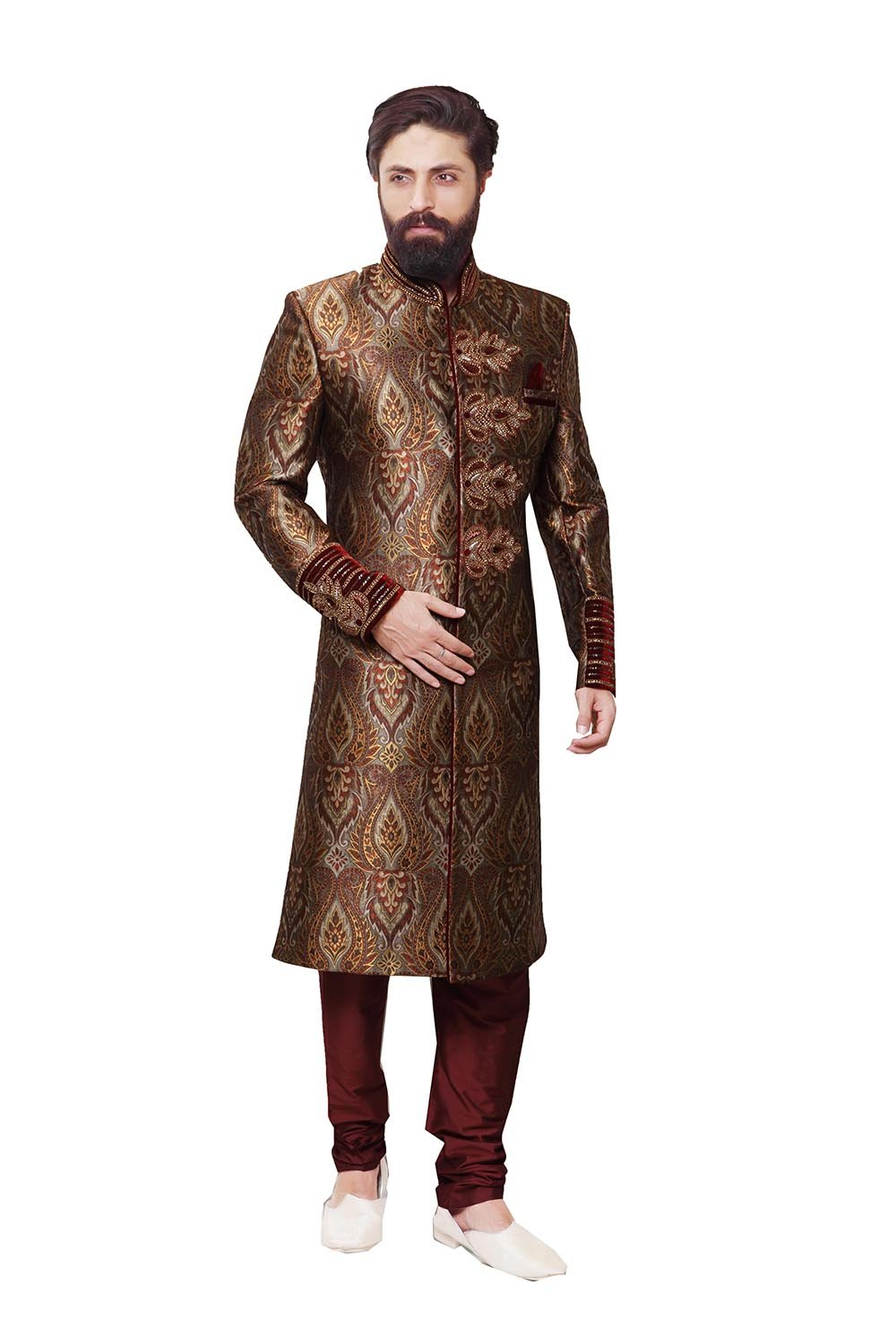 PinkCityCreations Indian Sherwani For Men Readymade Designer Partywear For Wedding Exclusive Fashion Indo-Western Dress