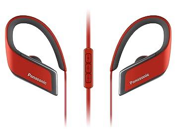 Panasonic RP-BTS30E-R - Auriculares, Gancho de Oreja, Intraaural, Bluetooth, con Micrófono, Rojo: Amazon.es: Electrónica