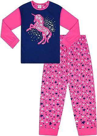 Cute Girl Born to Be a Unicorn Pink Star - Pijama largo para niña