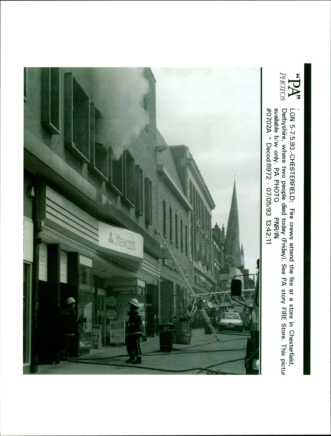 Amazon com: Vintage photo of Fire in the Littlewoods Store