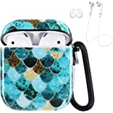 iCasso Airpods Case, Shockproof Protective Soft Case Cover with Keychain Compatible with AirPods 2/1, Full Protective TPU Cas