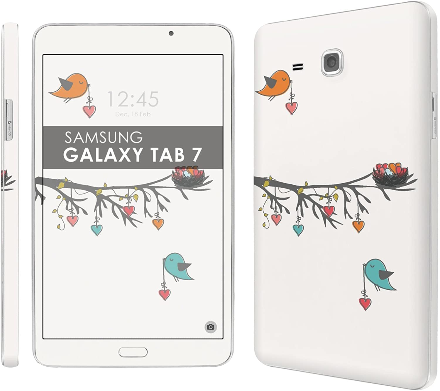 Amazon Com Decal Skin Matching Wallpaper Birds Love Compatible For Samsung Galaxy Tab A 7 0 Screen 7 Screen