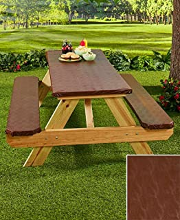 The Lakeside Collection 3 Pc Picnic Table Covers Chocolate