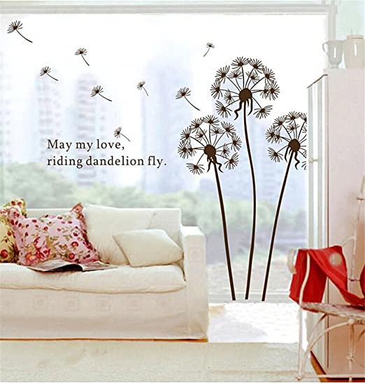 Creative Home Art DIY Wall Sticker Decoration Removable Dandelion Mural Decor D