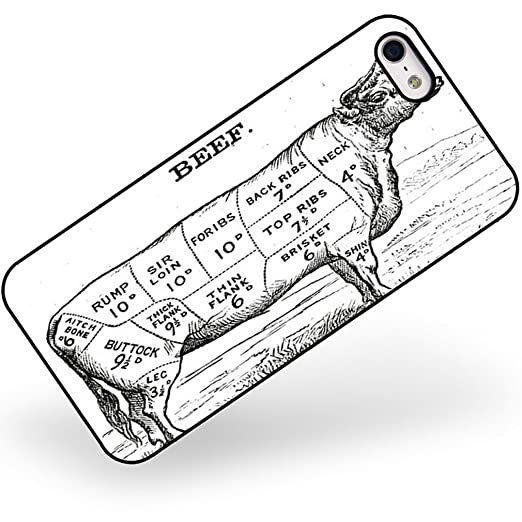 Rubber Case For Iphone 5 5s Beef Butcher Cuts Amazon Es Electrnica