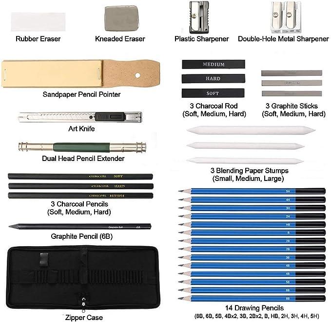 Beginners Art Set for Artists Pencil Set Art Supplies for ...