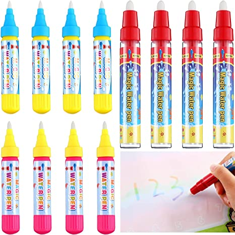 Outus 12 Pieces Magic Replacement Water Pen Water Doodle Pens Water Mat Pens For Drawing Mats Painting Boards Watercolour Paint Amazon Canada