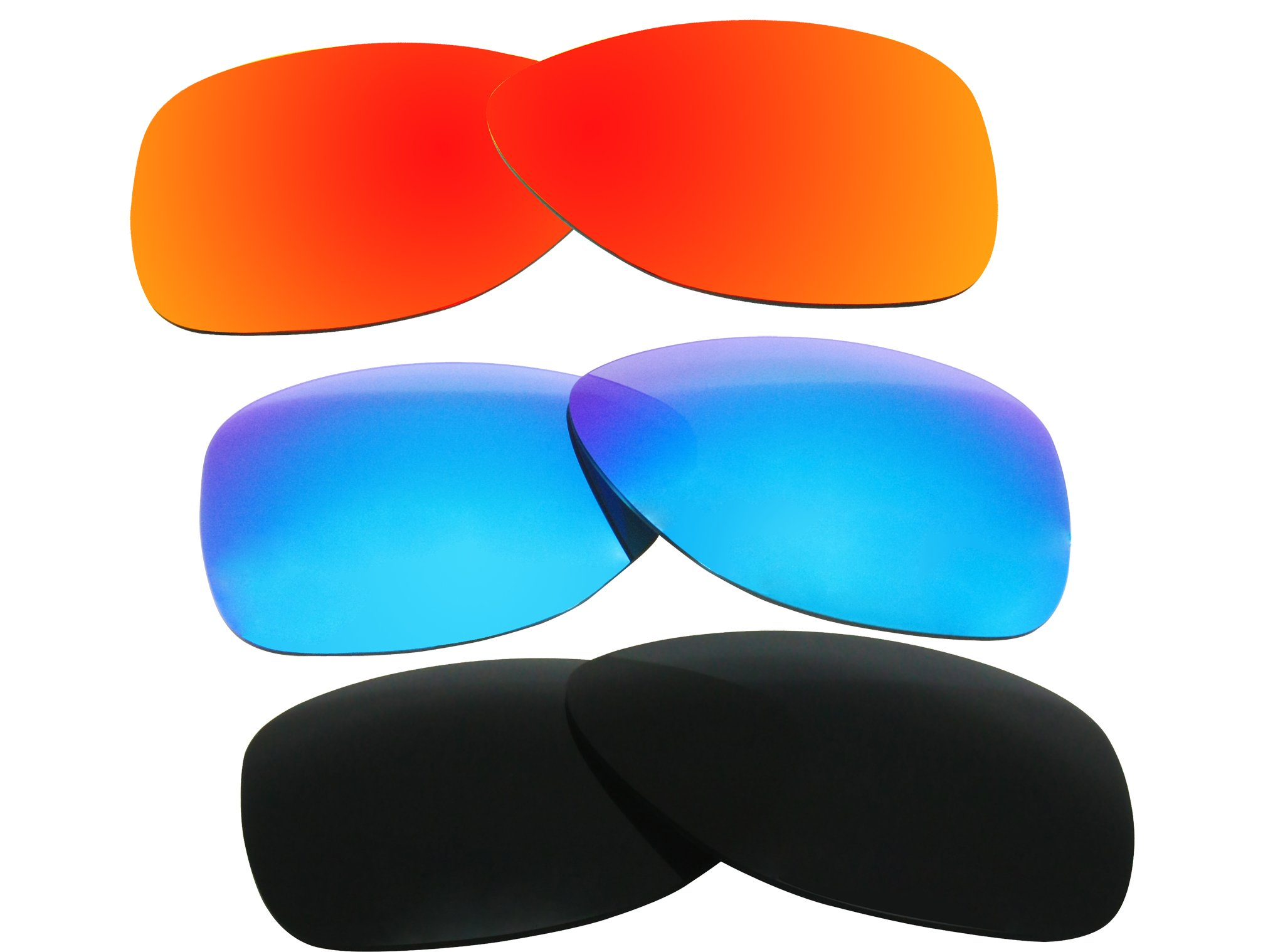 3 Pairs Polarized Replacement Sunglasses Lenses for Oakley Dispatch 2 with Excellent UV Protection