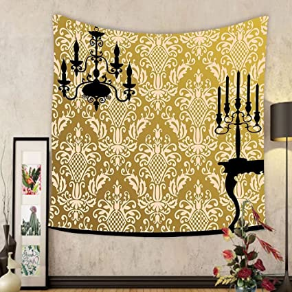 Amazon.com: Gzhihine Custom tapestry Damask Decor Tapestry English ...
