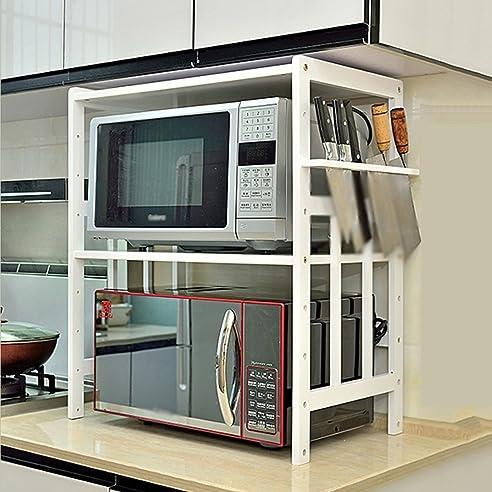 ZXLDP Küchenregale Organizer Mikrowelle Ofen Rack 2 Ebenen Küche ...