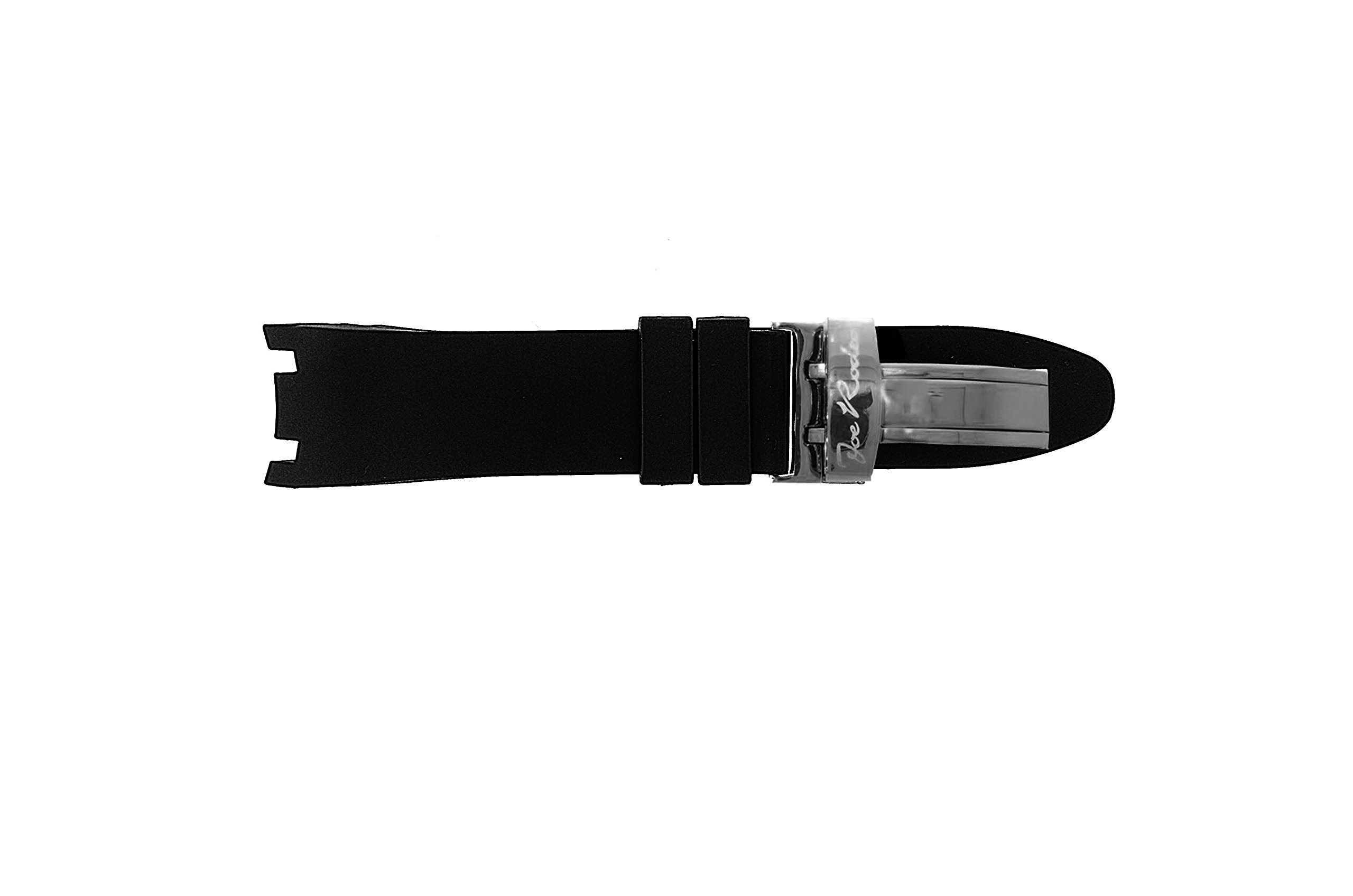Joe Rodeo Watch Band for Master Man in Black Color Rubber with Black Buckle